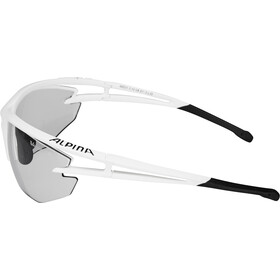 Alpina Eye-5 HR VL+ Occhiali, white matt-black/black